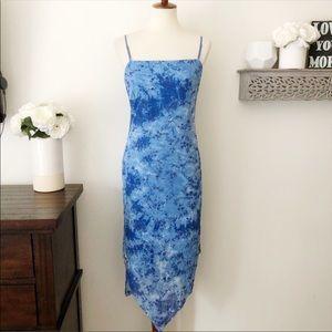 City Triangles vintage 90s floral blue dress large